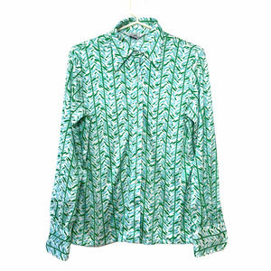 Hooper Vintage Pointed Collar Green Button Down 14